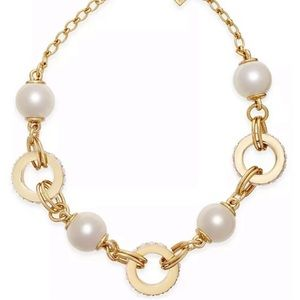 Kate Spade faux pearl link statement necklace